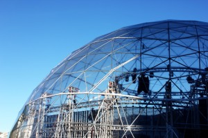 Exodome-dome-rent-Bologna-auto-show-Nissan-ministry-of-sound-pvc-structure-1030x687